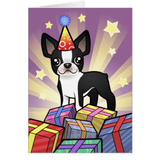 Cumpleaños Boston Terrier Felicitación