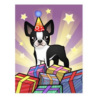 Cumpleaños Boston Terrier Postal