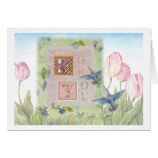 cumpleaños botánico del día de madre tarjeta de felicitación