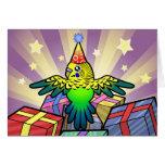 Cumpleaños Budgie Tarjeta