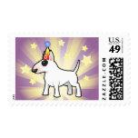 Cumpleaños bull terrier sello postal