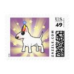 Cumpleaños bull terrier timbre postal