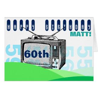 Cumpleaños C de saludo del ejemplo TV 60.a del Tarjeta De Felicitación