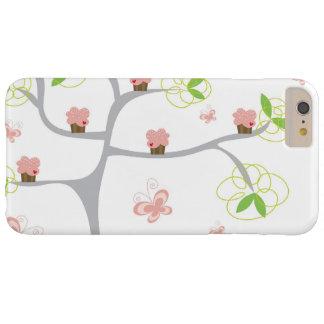 Cumpleaños caprichoso del dulce de las mariposas funda para iPhone 6 plus barely there