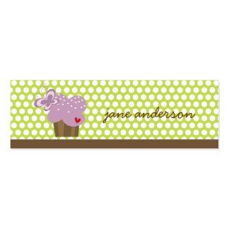 Cumpleaños caprichoso del dulce de las mariposas tarjetas de visita mini