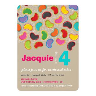Cumpleaños caprichoso del Jellybean del caramelo Invitacion Personalizada