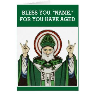 cumpleaños católico divertido tarjeta de felicitación