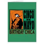 Cumpleaños Chica de Cinco de Mayo Tarjeta De Felicitación
