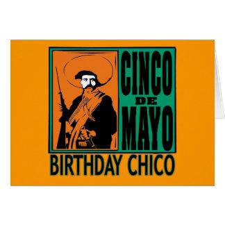 CUMPLEAÑOS CHICO de Cinco de Mayo Tarjeta De Felicitación