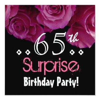 """Cumpleaños color de rosa rosado S001 de la Invitación 5.25"""" X 5.25"""""""