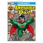 Cumpleaños cómico del super héroe adaptable tarjetón