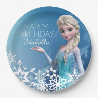 Cumpleaños congelado de Elsa Platos De Papel