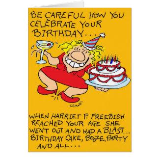 Cumpleaños cuidadoso felicitacion