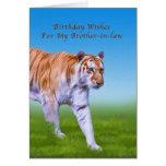 Cumpleaños, cuñado, el caminar del tigre felicitacion