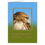 Cumpleaños, cuñado, halcón Áspero-legged Tarjetón