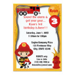 Cumpleaños dálmata FF01A del bombero del coche de Comunicado Personalizado