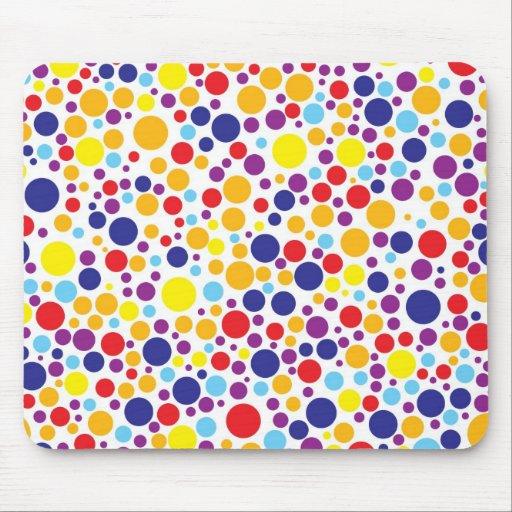 Cumpleaños daltónico - azul, amarillo, rojo, naran alfombrillas de raton