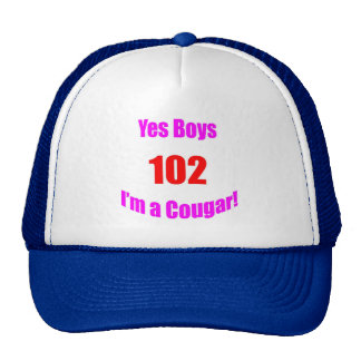 Cumpleaños de 102 pumas gorros bordados