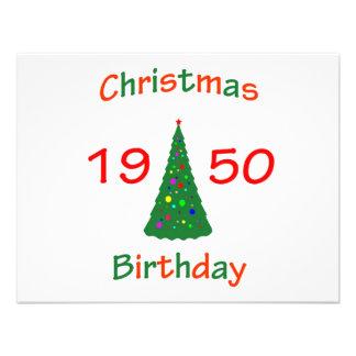 Cumpleaños de 1950 navidad comunicado