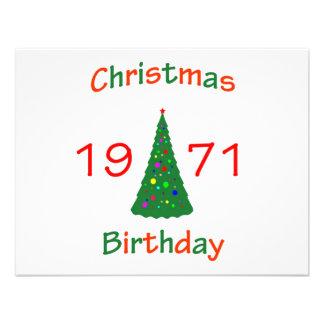 Cumpleaños de 1971 navidad comunicados personales