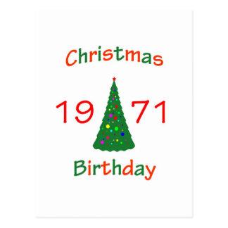 Cumpleaños de 1971 navidad postal