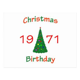 Cumpleaños de 1971 navidad postales