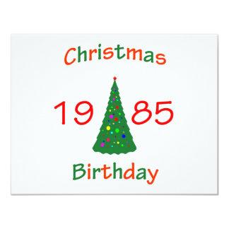 """Cumpleaños de 1985 navidad invitación 4.25"""" x 5.5"""""""