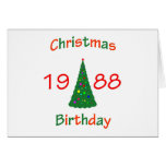 Cumpleaños de 1988 navidad tarjetas