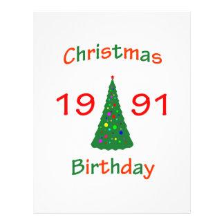 """Cumpleaños de 1991 navidad folleto 8.5"""" x 11"""""""