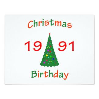 Cumpleaños de 1991 navidad anuncio personalizado