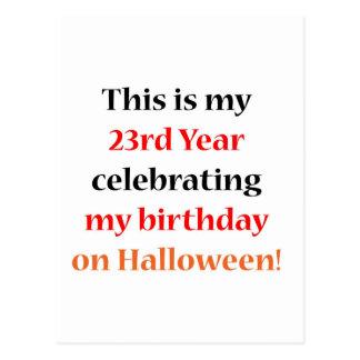 Cumpleaños de 23 Halloween Tarjetas Postales