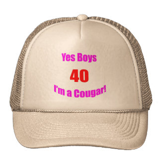 Cumpleaños de 40 pumas gorro de camionero