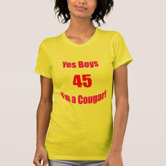 Cumpleaños de 45 pumas camiseta
