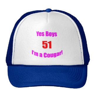 Cumpleaños de 51 pumas gorro de camionero
