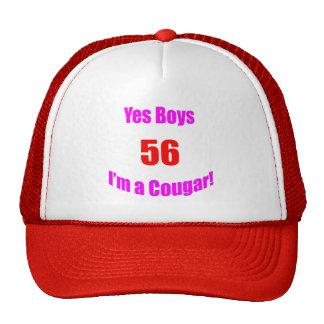 Cumpleaños de 56 pumas gorras