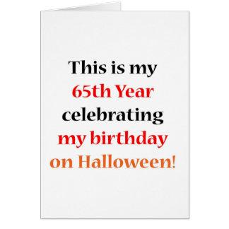 Cumpleaños de 65 Halloween Tarjeta De Felicitación