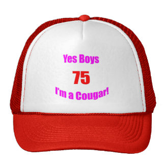Cumpleaños de 75 pumas gorras