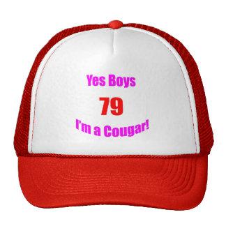 Cumpleaños de 79 pumas gorras