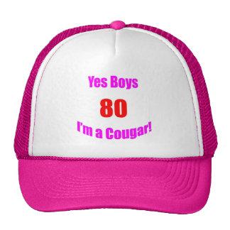 Cumpleaños de 80 pumas gorras