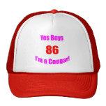 Cumpleaños de 86 pumas gorro de camionero