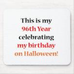 Cumpleaños de 96 Halloween Alfombrillas De Ratones