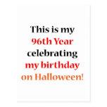 Cumpleaños de 96 Halloween Tarjeta Postal