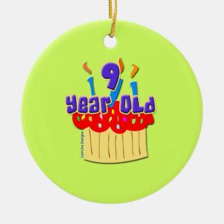 Cumpleaños de 9 años ornamento de reyes magos