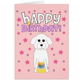 Cumpleaños de Bichon Tarjeta De Felicitación