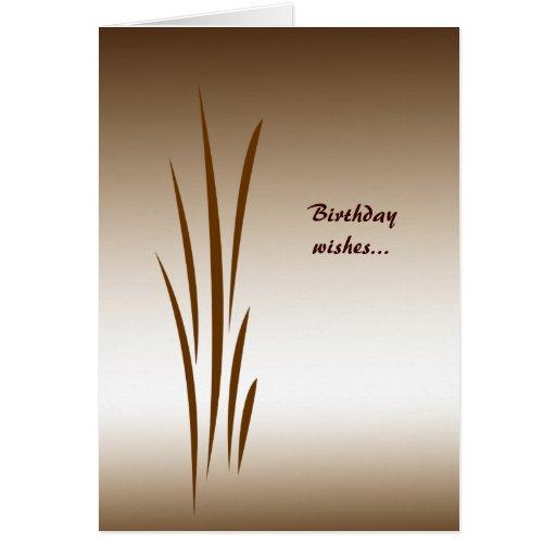 Cumpleaños de bronce de la hierba tarjeton