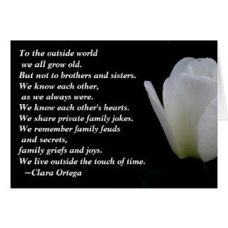 Cumpleaños de Brother/de la hermana Tarjeta De Felicitación