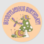 Cumpleaños de Buggylicious Pegatina Redonda