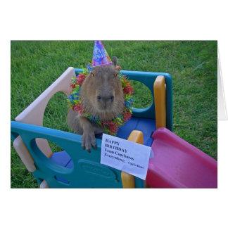 Cumpleaños de Capy de Caplin Rous Tarjeta Pequeña