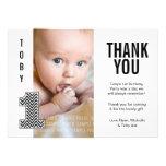 Cumpleaños de Chevron del bebé el 1r le agradece t Comunicado