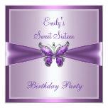 Cumpleaños de color de malva púrpura de la comunicados personales